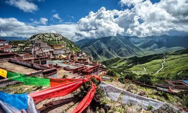 "Ganden Monastery, means ""Joyful, Pure, Virtuous"""